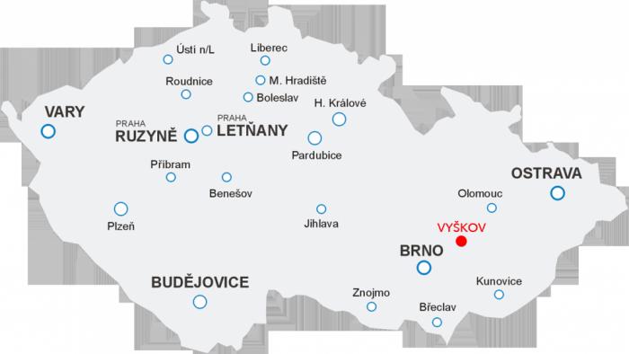 Odlety Aerotaxi z letiště Vyškov